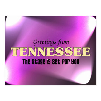Saludos de Tennessee Tarjeta Postal