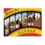 Saludos de Topeka Kansas Postal