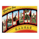 Saludos de Topeka Kansas Tarjeta Postal