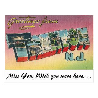 Saludos de Trenton, New Jersey Postal