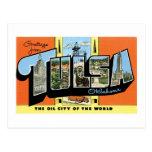Saludos de Tulsa, Oklahoma Tarjeta Postal