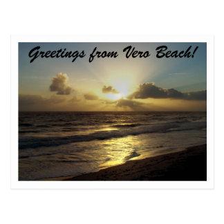 ¡Saludos de Vero Beach! Postal