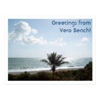 ¡Saludos de Vero Beach! Tarjeta Postal