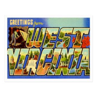 Saludos de Virginia Occidental Postales