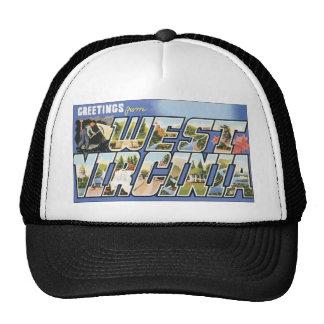 Saludos de Virginia Occidental, vintage Gorros