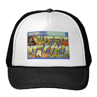 Saludos de Virginia Occidental WV Gorra
