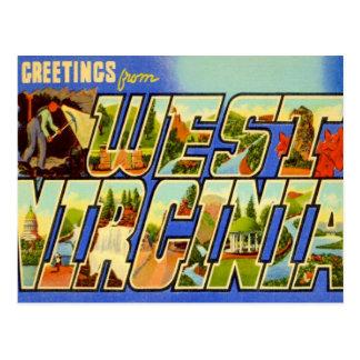 Saludos de Virginia Occidental WV Postal