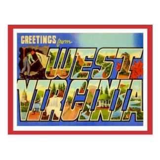 Saludos de Virginia Occidental WV Tarjetas Postales