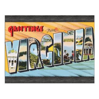 Saludos de Virginia, vintage Tarjetas Postales