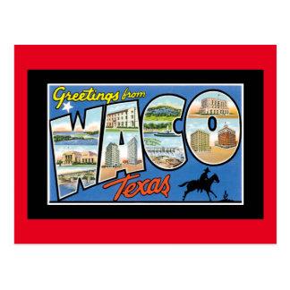 Saludos de Waco Tejas Postal