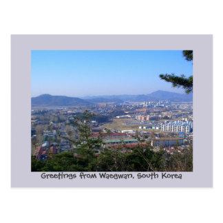 Saludos de Waegwan, Corea del Sur Tarjetas Postales