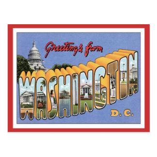 Saludos de Washington, C.C. los E.E.U.U. Postales