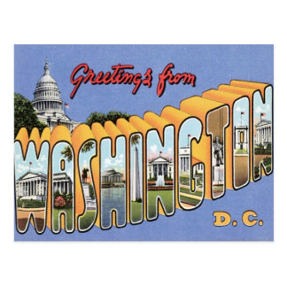 Saludos de Washington, C.C. los E.E.U.U. Tarjeta Postal