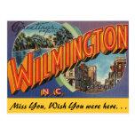 Saludos de Wilmington Tarjeta Postal