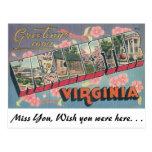 Saludos de Winchester, Virginia Tarjetas Postales