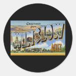 Saludos de Winslow Arizona Etiquetas Redondas
