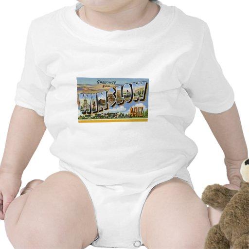 Saludos de Winslow Arizona Traje De Bebé