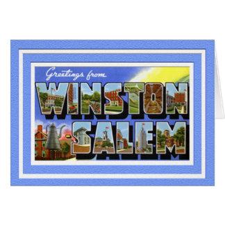 Saludos de Winston Salem Carolina del Norte Tarjeta
