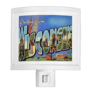 Saludos de Wisconsin Lámpara De Noche