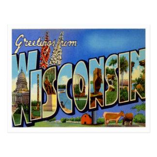 Saludos de Wisconsin Tarjetas Postales