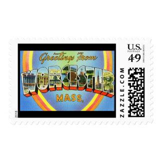 Saludos de Worcester Massachusetts Timbres Postales