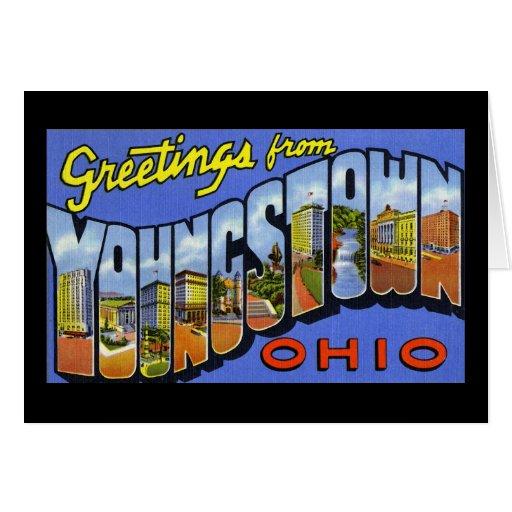 Saludos de Youngstown Ohio Felicitación