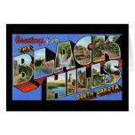 Saludos del Black Hills Dakota del Sur Felicitaciones