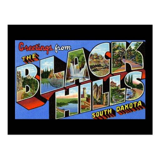 Saludos del Black Hills Dakota del Sur Tarjetas Postales