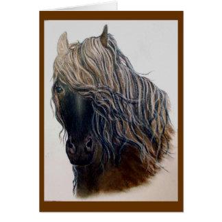 """Saludos del caballo del """"mustango"""" tarjeta de felicitación"""