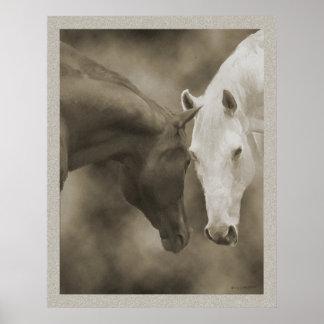 Saludos del caballo posters
