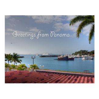 Saludos del Canal de Panamá, postal