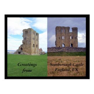 Saludos del castillo de Scarborough Postal
