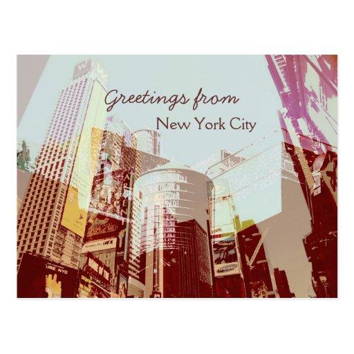 Saludos del collage de New York City Tarjeta Postal