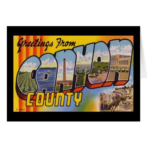 Saludos del condado de Canyon Idaho Tarjetas
