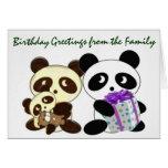 Saludos del cumpleaños de la panda tarjetas
