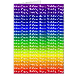 Saludos del cumpleaños del orgullo del arco iris tarjeton