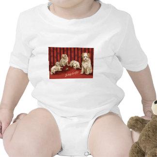 Saludos del cumpleaños del perrito del perro traje de bebé