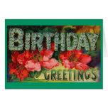 Saludos del cumpleaños tarjeton