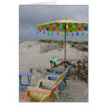 Saludos del día de fiesta de la playa tarjeta de felicitación