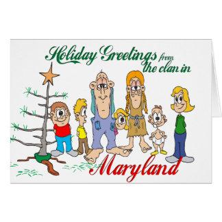 Saludos del día de fiesta de Maryland Tarjeta De Felicitación