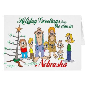 Saludos del día de fiesta de Nebraska Tarjeta De Felicitación