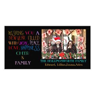 Saludos del día de fiesta del Año Nuevo Tarjetas Fotográficas Personalizadas
