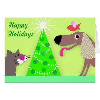 Saludos del día de fiesta del canguro del mascota tarjeta de felicitación
