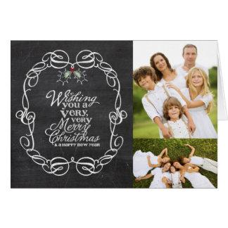 Saludos del día de fiesta del navidad de los tarjeta de felicitación