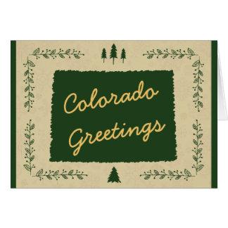 Saludos del día de fiesta del navidad del estado tarjeta de felicitación