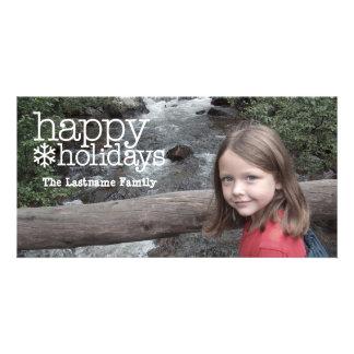 Saludos del día de fiesta - foto llena tarjeta fotográfica