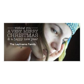 Saludos del día de fiesta - foto llena tarjeta fotografica personalizada