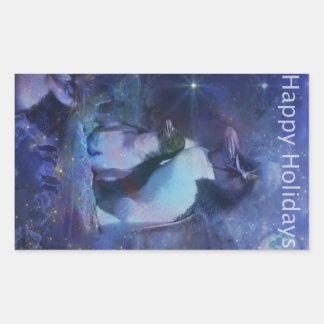 Saludos del día de fiesta - los saludos de la pegatina rectangular