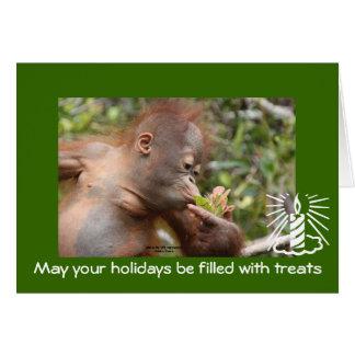 Saludos del día de fiesta para la caridad de la tarjeta pequeña