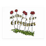 Saludos del día de madres postal